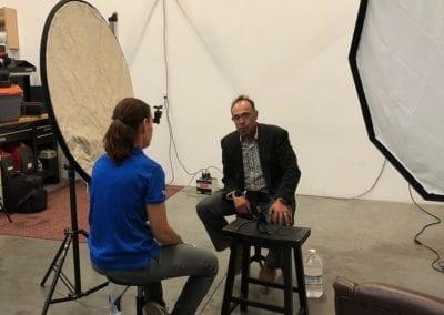 Sam interviewing Luis Escobar