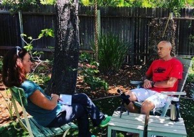 Sam interviewing Ian Adamson